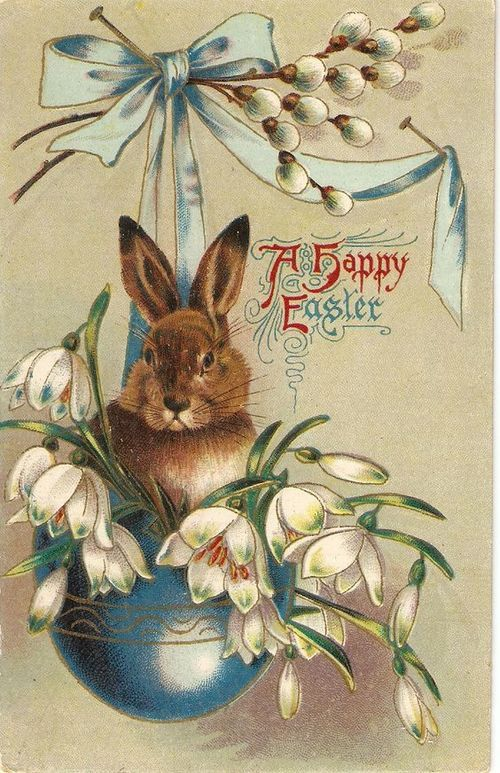 postcard.quenalbertini: Vintage Easter Card   by sharonfostervintage on Etsy