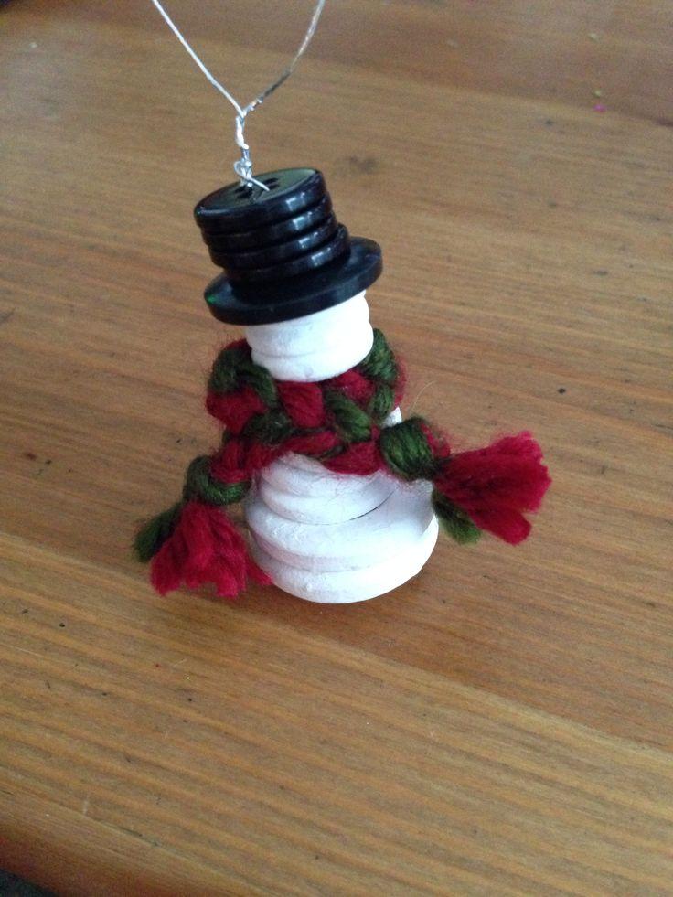 Button snowman!!