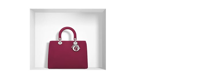 """""""diorissimo"""" bag in cherry red bullcalf leather -  Dior"""