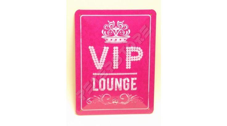 Retró Fém Tábla - VIP Lounge - VIP Társalgó, Tárgyaló Női Dombornyomott - 15x20 cm - PeterStore Webáruház - Exkluzív Ajándékok És Szobrok, Egyedi Különleges Dísztárgyak, Kerti Díszek