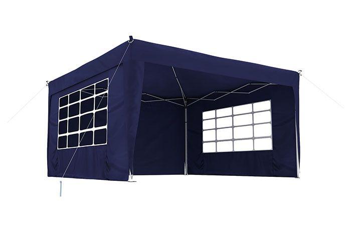 faltpavillon Premium | 3x3 m | wasserdichter Stoff | blau