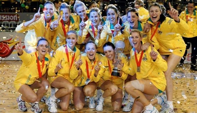 Diamonds celebrate winning the 2011 World Netball Championship.