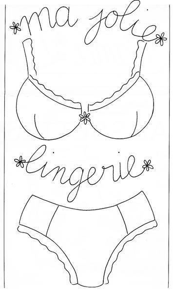 Molde para a sacola de lingerie