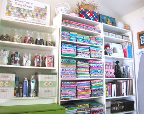 Scientific sewing room.: Sewing Rooms Organizations, Crafts Rooms, Crafts Sewing Rooms, Dreams Sewing, Periodic Tables, Sewing Spaces, Rooms Ideas, Craftroom, Craft Rooms