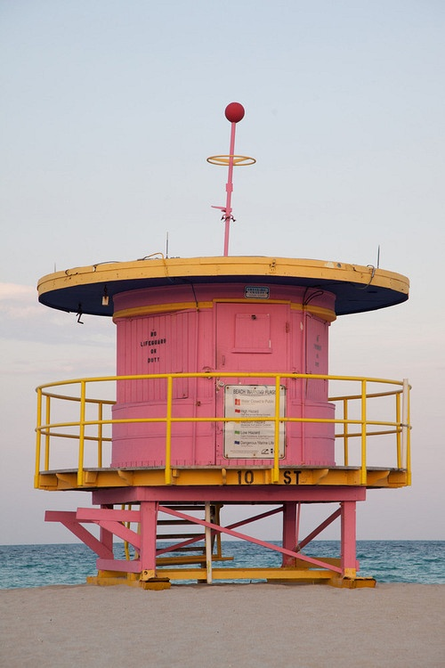 Lifeguard stand south beach Miami photo by robin hill