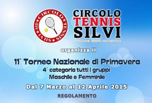 Eliminate alcune teste di serie all'XI Torneo di Tennis di Primavera di 4° categoria di Silvi - Notizie in Provincia