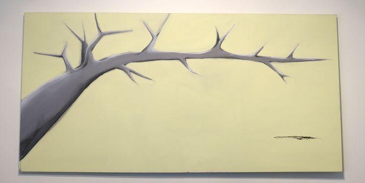 The dark tree - acrylic on canvas