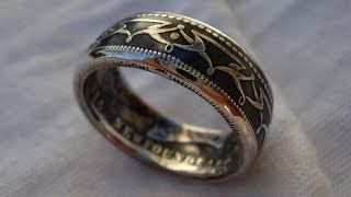 UVIOO.com - How to Contrast a Silver Coin Ring - Patina Finish