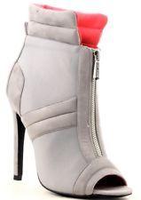 June 32 Ankle High Open Toe Stilett
