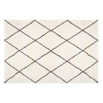 Vloerkleed Cavallino Beige/Zwarte ruit 160x230 cm | Vloerkleden | Vloeren | GAMMA