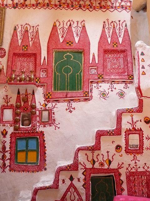 Interior decoration, traditional Ghadames house, Libya ,