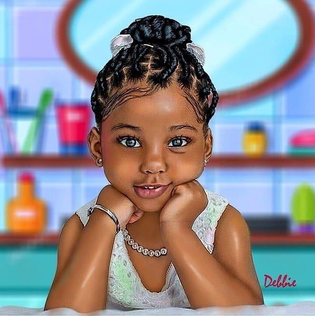3 476 Likes 16 Comments All Black Art Africadopedaily On Instagram Adorable Art By Deee Va Black Baby Art Black Girl Art Natural Hair Art
