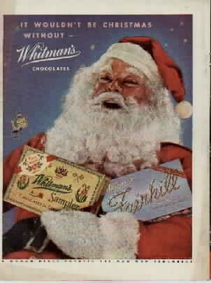 Vintage Christmas Ad ~ Whitman's Sampler ©1947