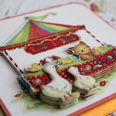 Karta z życzeniami dla dziecka ręcznie wykonana.