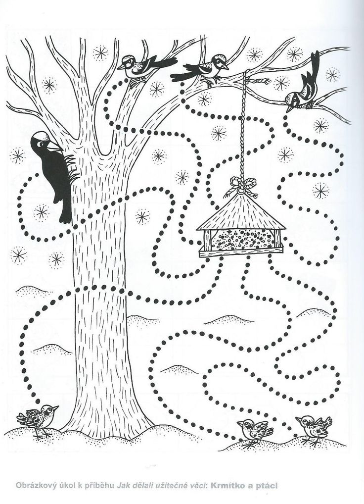 birds tracing worksheet // ficha de trazo con pájaros #worksheet #tracing #prewriting #printable