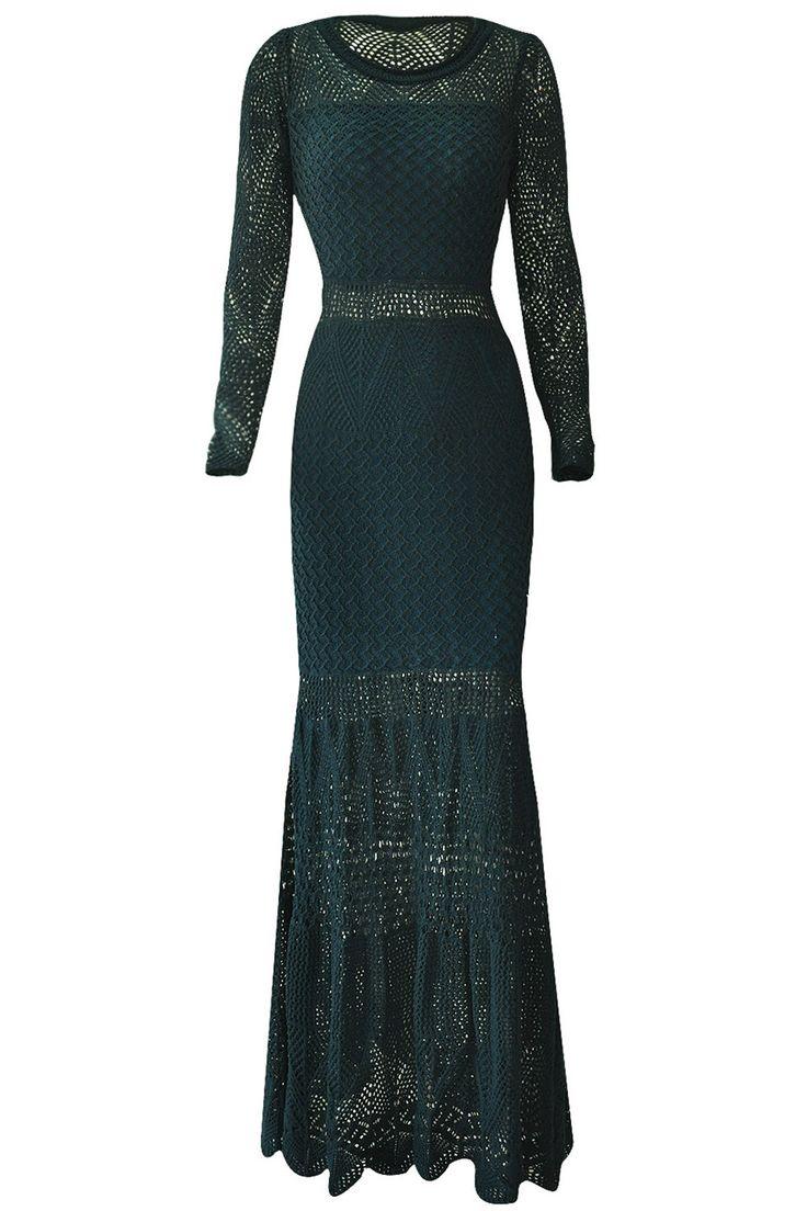 Vestido-New-Boheme-Petroleo   Galeria Tricot - Galeria Tricot