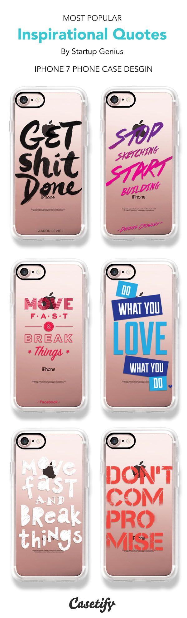 Most Popular Quotes iPhone 7 and iPhone 7 Plus case. Shop these phone cases here >    https://www.casetify.com/artworks/C9FMCVJYTv