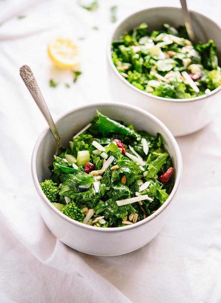 If you love kale salads, try this massaged #BroccoliRabe salad! cookieandkate.com @EatBroccoliRabe #sponsored