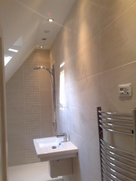 loft bathroom- shower rooms are a great way to save space in the loft                                                                                                                                                      More
