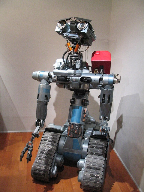 "The animatronic Johnny 5 from the ""Short Circuit"" movies"
