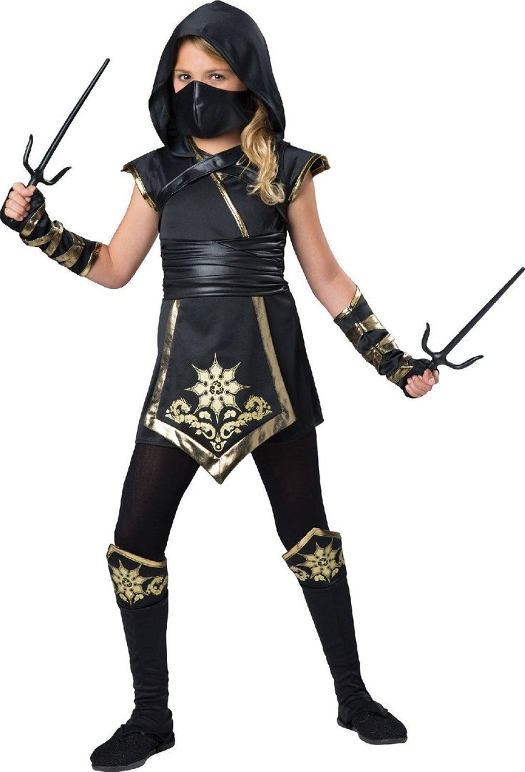Gold Ninja Girl - Costume For Kids from Buycostumes.com