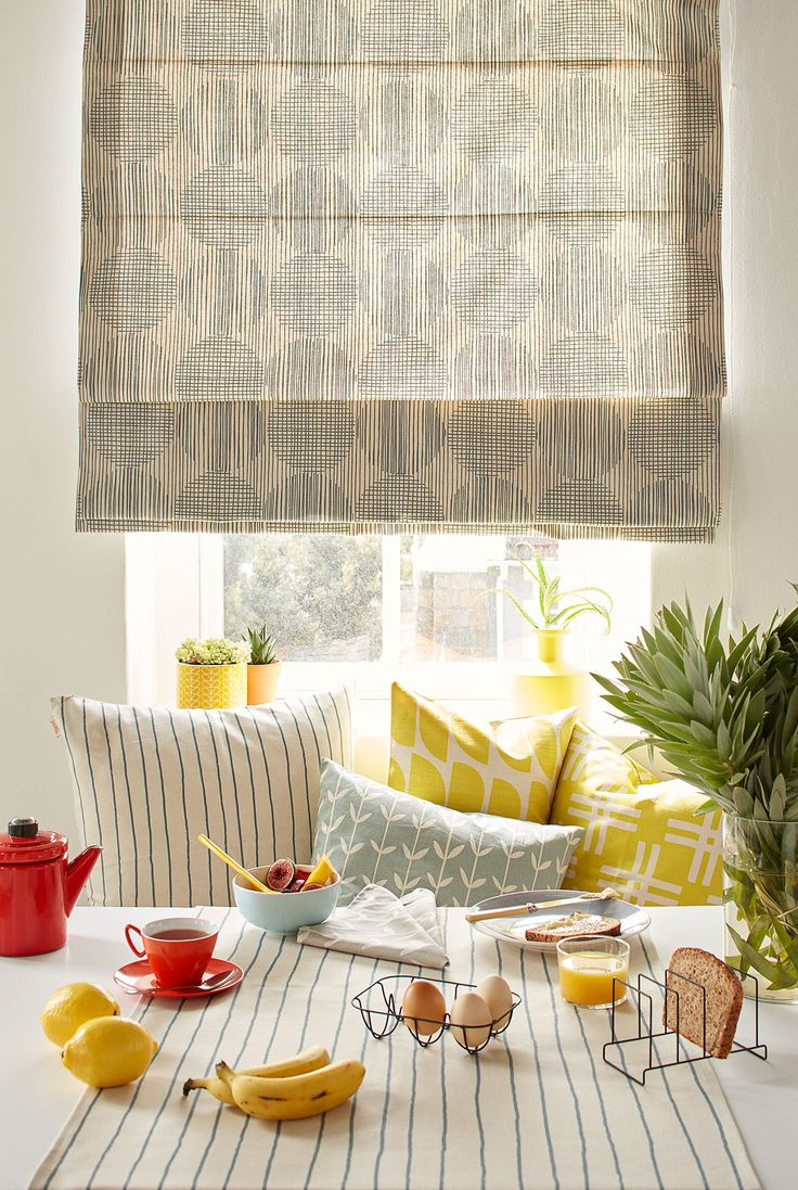 Time for Sunday brunch with Skinny laMinx. Don't these blinds made up in our Block Circle print look fab? See our full lookbook packed with style tips and inspiration on our website.