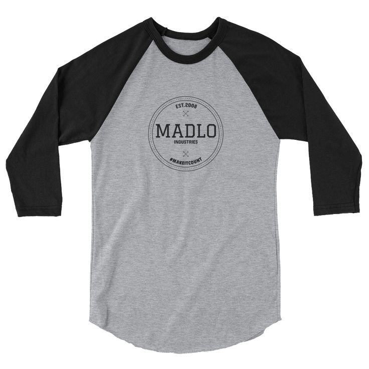 Madlo Industries 3/4 sleeve raglan shirt