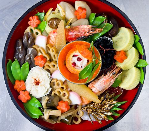 osechi ryori (japanese new year dishes)