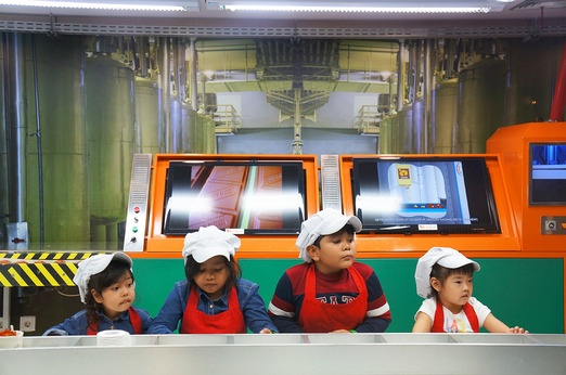 The chocolate factory is one of the kids' favorites in KidZania - because they can eat it later, of course. Photo by Kes...