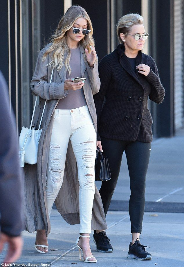 Laid-back: The Real Housewives of Beverly Hills star dressed a bit more casually for the o...