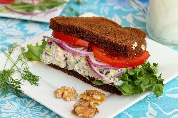 Tuna Salad with Raisins: Salad Recipes, 18 Raisin Tuna Salad, Red Onions, Tuna Salad Recipe, Tuna Sandwiches, Raisin Walnut, Fresh Dill, Salad Sandwiches, Greek Yogurt