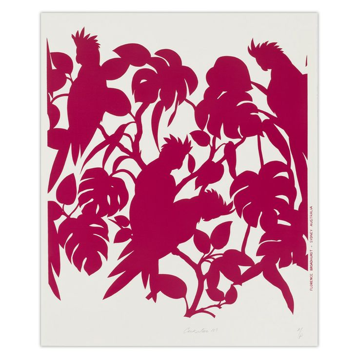 Manic Magenta Cockatoos Wall Art - Florence Broadhurst by Signature Prints - on Temple & Webster today!