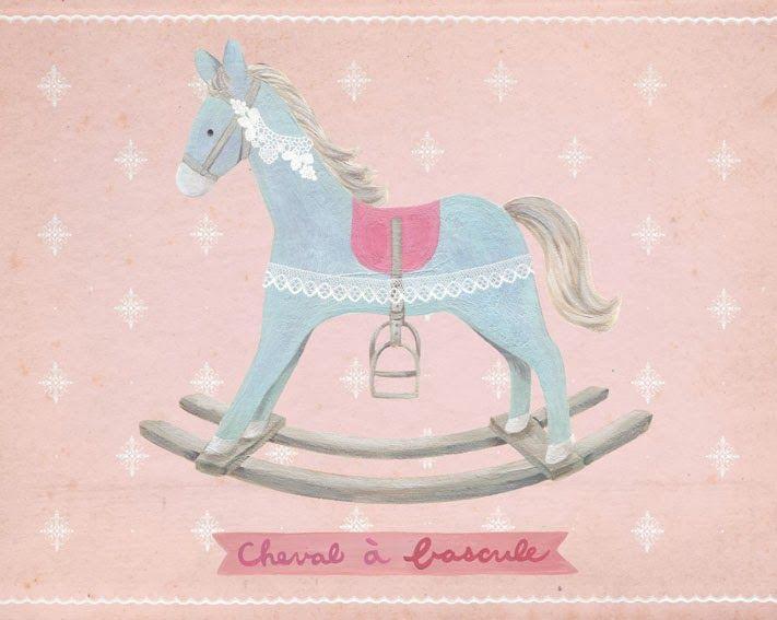 Rocking horse / Cheval à bascule | Ana Sucré