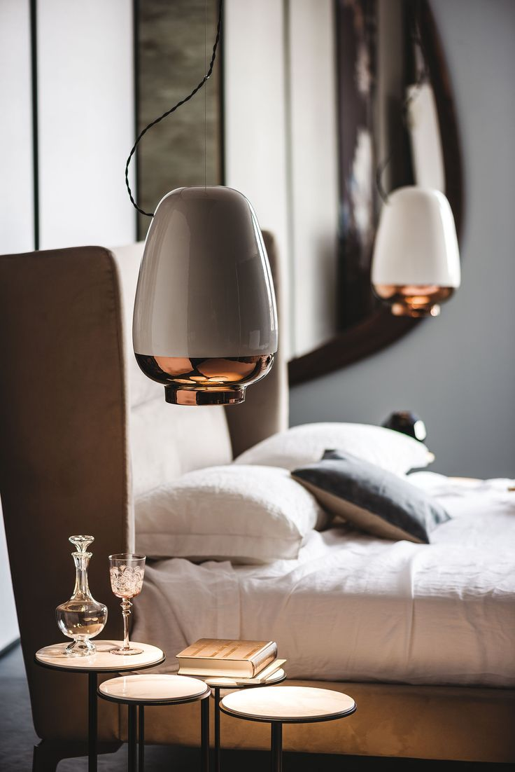 The Ultimate Guide To Lighting Your Bedroom | Hanging or wall mounted bedside lights are great at freeing up space on your bedside so perfect if space is tight. #lighting #design #pendant #bedroom #homedecor #bedroomdecor #bedroomideas #contemporary
