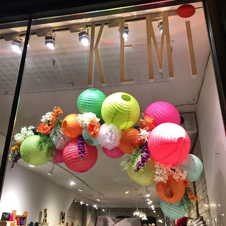 "KEMI, (Accessoiries Boutique), Toronto, Canada, ""Spring Lantern/Floral Design"", creative by Eszter Czibok, pinned by Ton van der Veer"