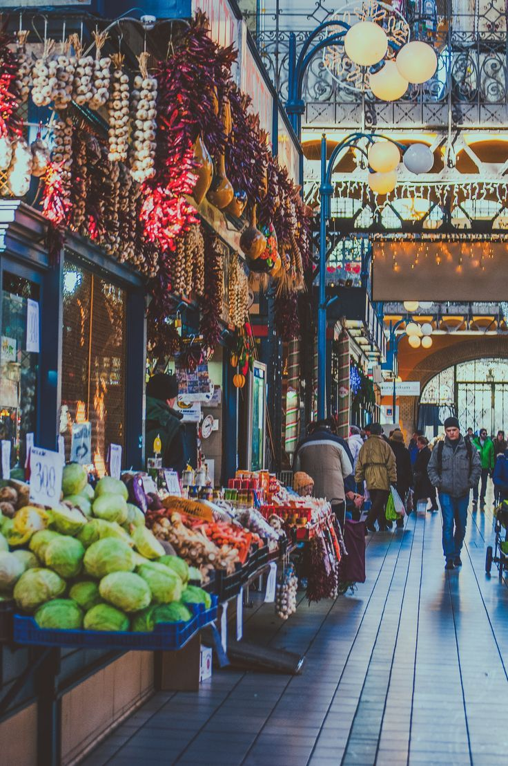 inside the central (great) market hall, the oldest + largest indoor market in budapest, hungary   shopping + travel