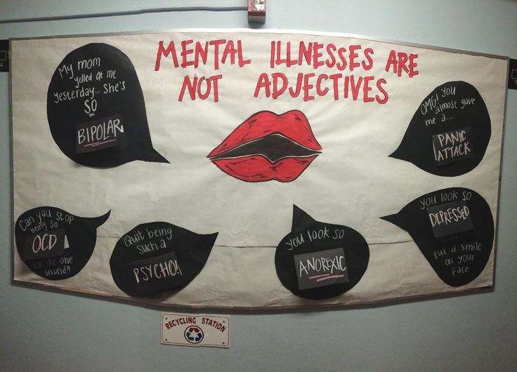Mental Illness are Not Adjectives Bulletin Board
