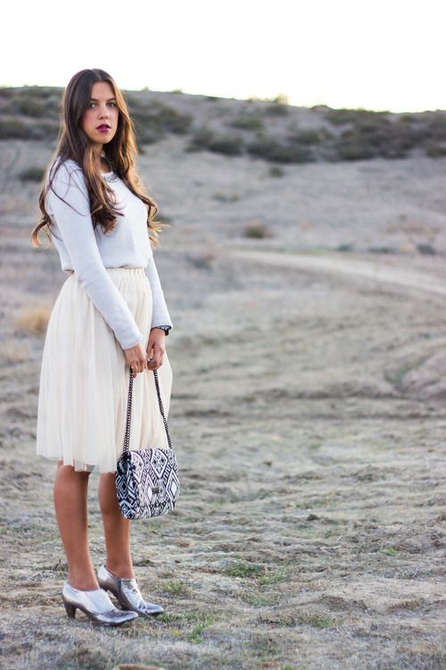 tulle skirt + silver booties + wine lipstick / white winter princess / reality and retrospect