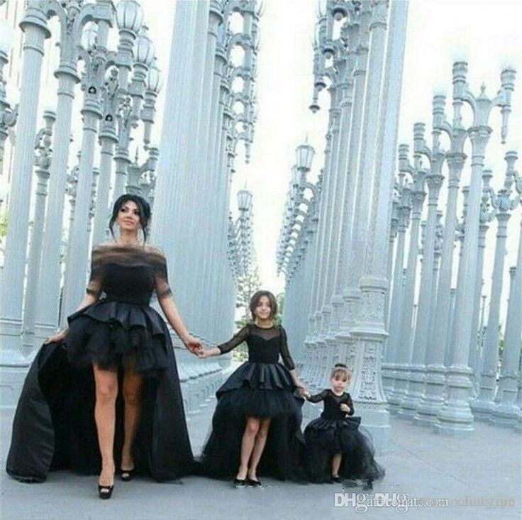Black High Low Mother And Daughter Matching Prom Dresses Tulle Skirt Pleated Ruched Custom 2016 Kids Formal Pageant Wear Evening Gowns Green Prom Dress Inexpensive Prom Dresses From Personalcustom, $92.47| Dhgate.Com