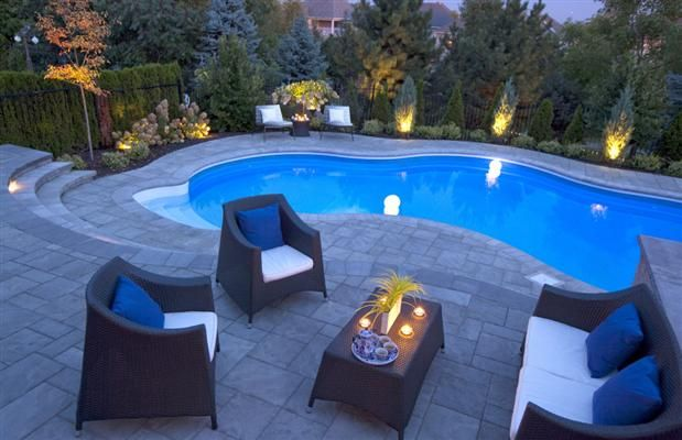 Best 20 inground pool lights ideas on pinterest for Pool design for sloped yard