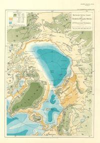 Bathymetrical Chart of Northern Polar Seas, by Fridtjof Nansen