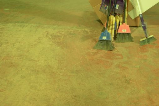 How Long Does It Take For A Concrete Floor Primer To Dry Before You Can Put Down Vinyl Tile Ehow Com Painting Concrete Concrete Floors Water Based Concrete Stain