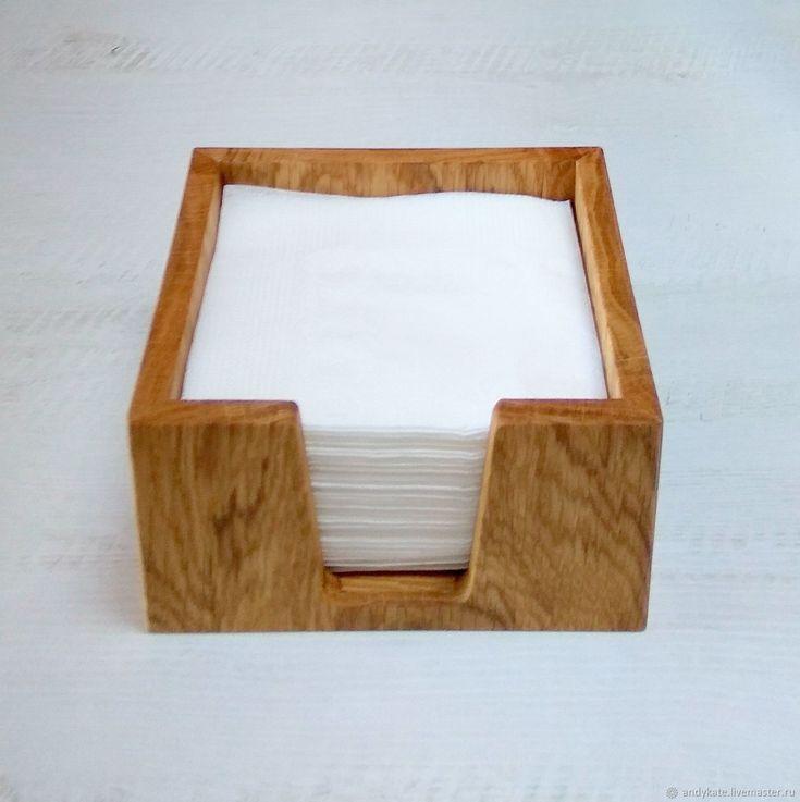 Салфетница из дуба (145х145х75мм) – купить в интернет-магазине на Ярмарке Мастеров с доставкой - BSP01RU