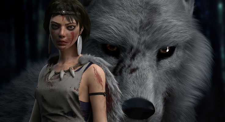 Princess Mononoke designed by Alireza from Iran. Rate it here: http://metalentsawards.com/en/contest/view/2676