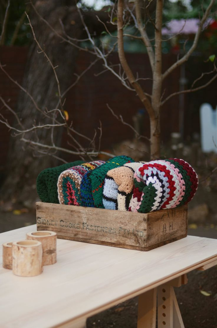 Lily and Bramwell | Event hire Adelaide, South Australia   Nana crochet blanket  Hand knitted crochet blankets. A cute picnic rug or to keep guests warm at an outdoor event?