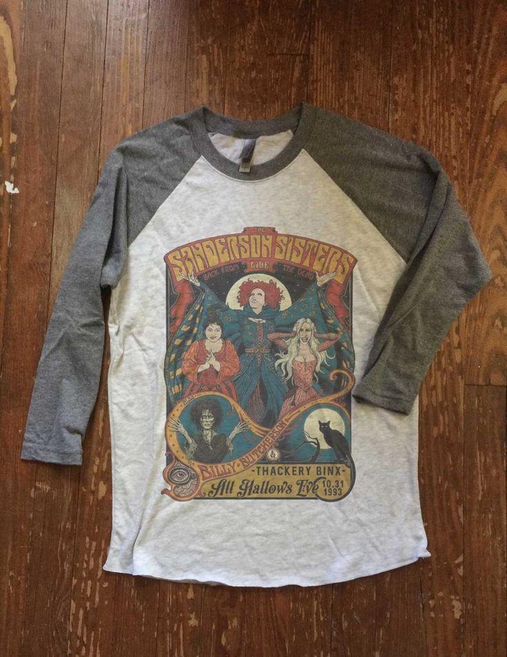 Hocus Pocus Halloween Shirt - Sanderson Sisters Live - Unisex Baseball Tee