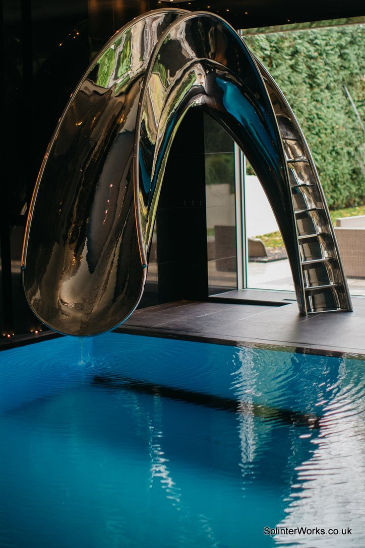 64 best pool and water slides by splinter works images on - Indoor swimming pool with slides london ...