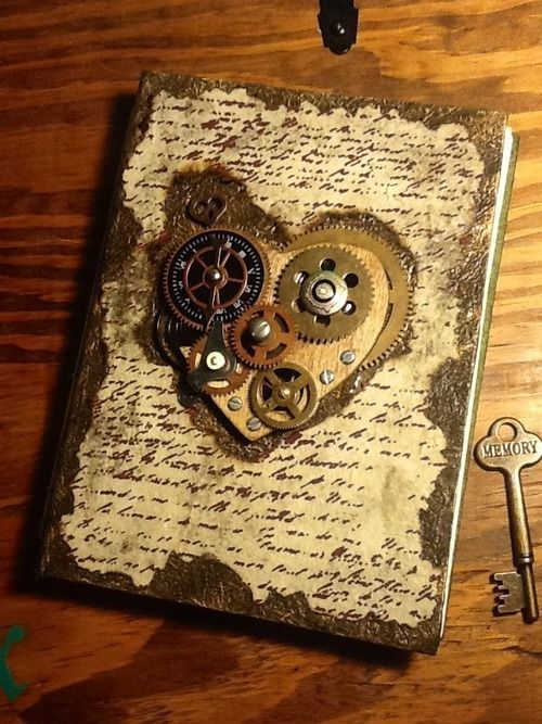 Oh my....this is so.ething I'd love to have! Steampunk journal! :)