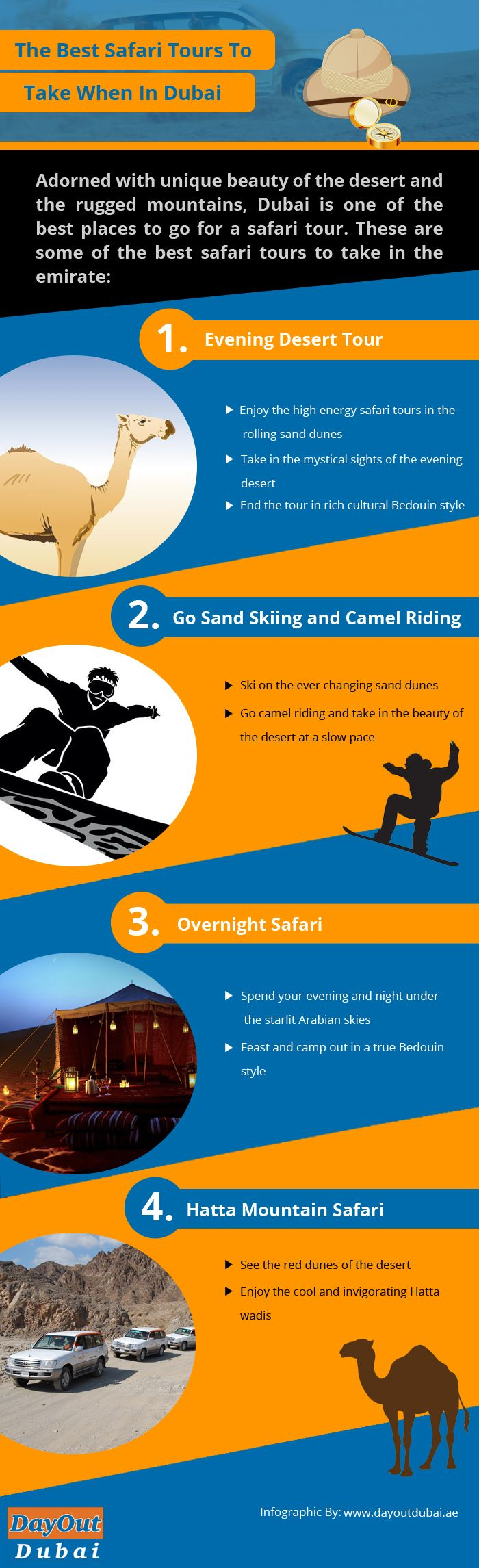 Adorned with the unique beauty of the desert and the rugged mountains, Dubai is one of the best places to go for a safari tour. There are some of the best safari tours to take when you are in Dubai. See this infographic for more information.
