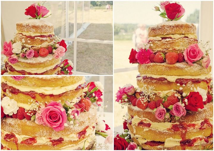 Sponge Wedding Cake Recipes Uk: Festival Wedding With Fish & Chips And A Rodeo Bull By